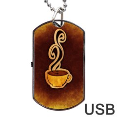 Coffee Drink Abstract Dog Tag Usb Flash (one Side)