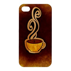 Coffee Drink Abstract Apple iPhone 4/4S Premium Hardshell Case