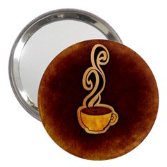 Coffee Drink Abstract 3  Handbag Mirrors