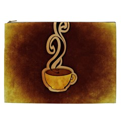 Coffee Drink Abstract Cosmetic Bag (XXL)