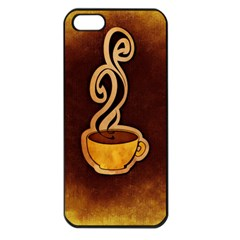 Coffee Drink Abstract Apple Iphone 5 Seamless Case (black)