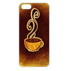 Coffee Drink Abstract Apple iPhone 5 Seamless Case (White)