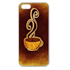 Coffee Drink Abstract Apple Seamless iPhone 5 Case (Clear)