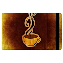 Coffee Drink Abstract Apple iPad 3/4 Flip Case