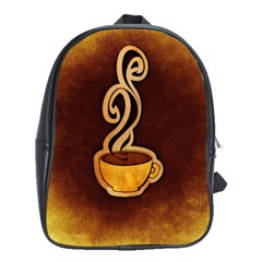 Coffee Drink Abstract School Bags (XL)