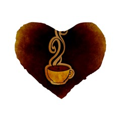 Coffee Drink Abstract Standard 16  Premium Heart Shape Cushions