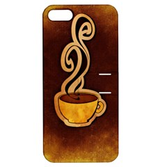 Coffee Drink Abstract Apple iPhone 5 Hardshell Case with Stand