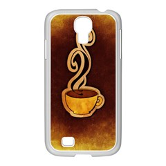 Coffee Drink Abstract Samsung Galaxy S4 I9500/ I9505 Case (white)