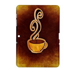 Coffee Drink Abstract Samsung Galaxy Tab 2 (10 1 ) P5100 Hardshell Case