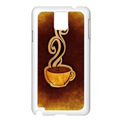 Coffee Drink Abstract Samsung Galaxy Note 3 N9005 Case (White)