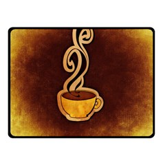 Coffee Drink Abstract Double Sided Fleece Blanket (Small)