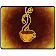 Coffee Drink Abstract Double Sided Fleece Blanket (Medium)