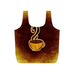 Coffee Drink Abstract Full Print Recycle Bags (S)