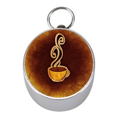Coffee Drink Abstract Mini Silver Compasses