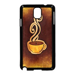 Coffee Drink Abstract Samsung Galaxy Note 3 Neo Hardshell Case (Black)