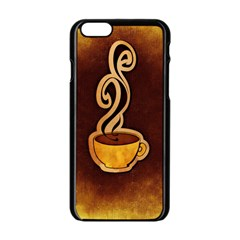 Coffee Drink Abstract Apple iPhone 6/6S Black Enamel Case