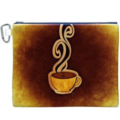 Coffee Drink Abstract Canvas Cosmetic Bag (XXXL)