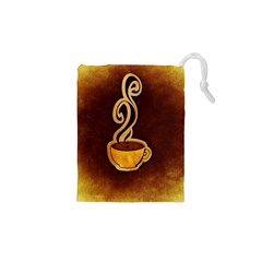 Coffee Drink Abstract Drawstring Pouches (xs)