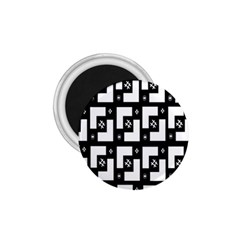 Abstract Pattern Background  Wallpaper In Black And White Shapes, Lines And Swirls 1.75  Magnets