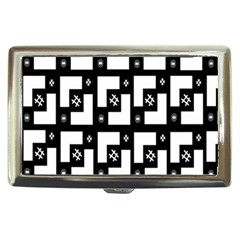 Abstract Pattern Background  Wallpaper In Black And White Shapes, Lines And Swirls Cigarette Money Cases