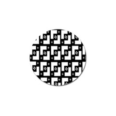 Abstract Pattern Background  Wallpaper In Black And White Shapes, Lines And Swirls Golf Ball Marker (10 Pack)