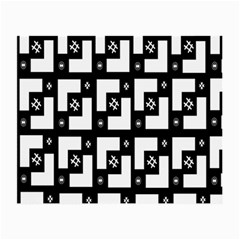 Abstract Pattern Background  Wallpaper In Black And White Shapes, Lines And Swirls Small Glasses Cloth