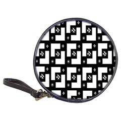 Abstract Pattern Background  Wallpaper In Black And White Shapes, Lines And Swirls Classic 20 Cd Wallets