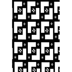 Abstract Pattern Background  Wallpaper In Black And White Shapes, Lines And Swirls 5 5  X 8 5  Notebooks