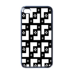 Abstract Pattern Background  Wallpaper In Black And White Shapes, Lines And Swirls Apple Iphone 4 Case (black)