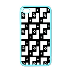 Abstract Pattern Background  Wallpaper In Black And White Shapes, Lines And Swirls Apple Iphone 4 Case (color)