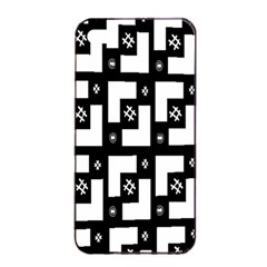 Abstract Pattern Background  Wallpaper In Black And White Shapes, Lines And Swirls Apple iPhone 4/4s Seamless Case (Black)