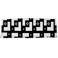 Abstract Pattern Background  Wallpaper In Black And White Shapes, Lines And Swirls Body Pillow Case (Dakimakura)