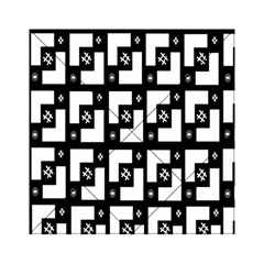 Abstract Pattern Background  Wallpaper In Black And White Shapes, Lines And Swirls Acrylic Tangram Puzzle (6  x 6 )