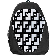 Abstract Pattern Background  Wallpaper In Black And White Shapes, Lines And Swirls Backpack Bag