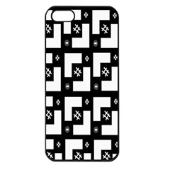 Abstract Pattern Background  Wallpaper In Black And White Shapes, Lines And Swirls Apple iPhone 5 Seamless Case (Black)