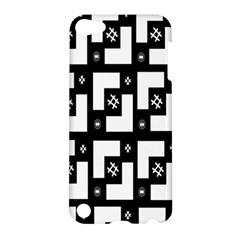 Abstract Pattern Background  Wallpaper In Black And White Shapes, Lines And Swirls Apple iPod Touch 5 Hardshell Case
