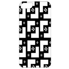 Abstract Pattern Background  Wallpaper In Black And White Shapes, Lines And Swirls Apple iPhone 5 Classic Hardshell Case