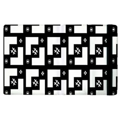 Abstract Pattern Background  Wallpaper In Black And White Shapes, Lines And Swirls Apple iPad 3/4 Flip Case