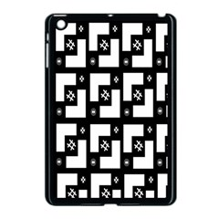 Abstract Pattern Background  Wallpaper In Black And White Shapes, Lines And Swirls Apple iPad Mini Case (Black)
