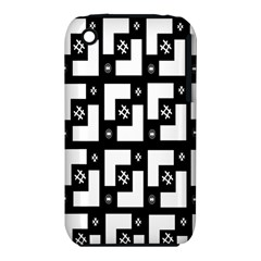 Abstract Pattern Background  Wallpaper In Black And White Shapes, Lines And Swirls iPhone 3S/3GS