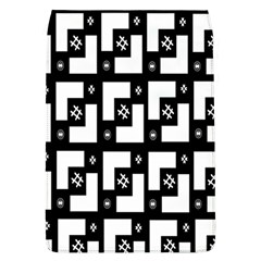 Abstract Pattern Background  Wallpaper In Black And White Shapes, Lines And Swirls Flap Covers (L)