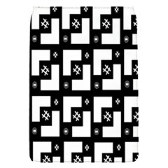 Abstract Pattern Background  Wallpaper In Black And White Shapes, Lines And Swirls Flap Covers (S)
