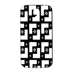 Abstract Pattern Background  Wallpaper In Black And White Shapes, Lines And Swirls Samsung Galaxy S4 I9500/I9505  Hardshell Back Case