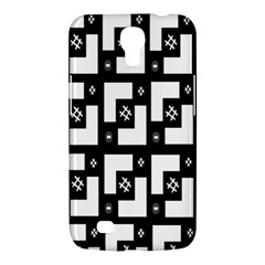 Abstract Pattern Background  Wallpaper In Black And White Shapes, Lines And Swirls Samsung Galaxy Mega 6 3  I9200 Hardshell Case