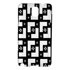 Abstract Pattern Background  Wallpaper In Black And White Shapes, Lines And Swirls Samsung Galaxy Note 3 N9005 Hardshell Case