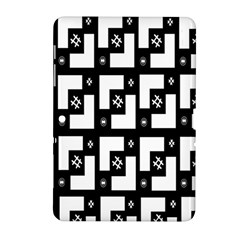 Abstract Pattern Background  Wallpaper In Black And White Shapes, Lines And Swirls Samsung Galaxy Tab 2 (10.1 ) P5100 Hardshell Case