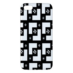 Abstract Pattern Background  Wallpaper In Black And White Shapes, Lines And Swirls iPhone 5S/ SE Premium Hardshell Case