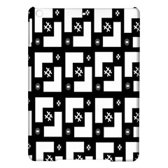 Abstract Pattern Background  Wallpaper In Black And White Shapes, Lines And Swirls iPad Air Hardshell Cases