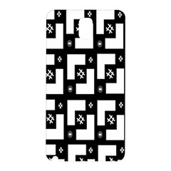 Abstract Pattern Background  Wallpaper In Black And White Shapes, Lines And Swirls Samsung Galaxy Note 3 N9005 Hardshell Back Case