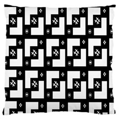 Abstract Pattern Background  Wallpaper In Black And White Shapes, Lines And Swirls Standard Flano Cushion Case (One Side)